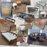 Lots of Furniture - Dresser, End Tables, Sectional, Chairs, Bed in Camp Lejeune, North Carolina