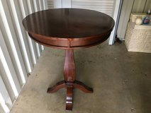 Solid wood cherry pub table, with sliding serving tray in Lockport, Illinois