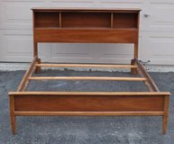 FULL - SIZED : Vintage Mid - Century / MCM Modern Wooden Bed Frame in Lockport, Illinois
