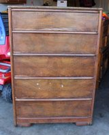 Extra Large Highboy Dresser - Antique, Solid Wood in Glendale Heights, Illinois