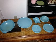 11 Piece Rare Vintage Blue Retro Bootonware I will be in Fairfield on 6/16 if you want me to bri... in Travis AFB, California