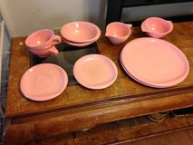 Pink Vintage Booton Ware Dish Set Retro in Beale AFB, California
