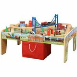 Maxim Railroad Wooden Activity Table with 50 Pc Train Set - NEW! in Lockport, Illinois