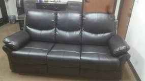 Dudhope Bonded Leather Sofa Recliner + Optional Set FREE DELIVERY in Miramar, California