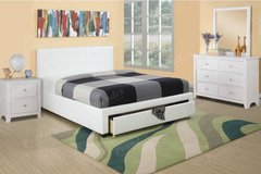 New QUEEN Storage White Bed Set with Optional Set FREE DELIVERY in Miramar, California