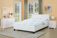 New QUEEN White  Bed Set Dresser Nightstand Optional FREE DELIVERY in Miramar, California