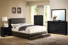 QUEEN Brown Storage Bed Frame (King/Cali King optional) FREE DELIVERY in Miramar, California