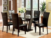 New Rectangular Glass Dining Table + 6 Chairs Set FREE DELIVERY in Miramar, California