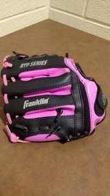 Franklin Baseball Glove Pink Black Youth Girls in Fort Campbell, Kentucky