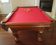8-Ft Slate Pool Table + Accessories in Perry, Georgia
