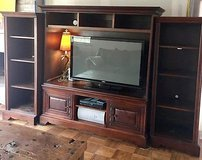 romweber tv entertainment center solid wood wall unit cabinet retail $4000 in Oklahoma City, Oklahoma