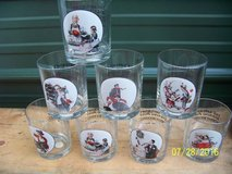 SET of 8- NORMAN ROCKWELL COLLECTORS ITEM Drinking Glasses in Conroe, Texas