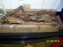 ANTIQUE HAMMERS, MINI HAMMER HEADS + OLD WOOD MITRE BOX - per piece in Conroe, Texas