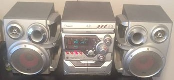JVC CD, Dual Cassette Player FM AM Tuner in Waukegan, Illinois
