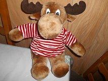 "Vintage ""MOOSTLETOE"" Stuffed Plush Moose from the MOOSTLETOE and LITTLETOE line in Houston, Texas"
