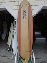 Surfboard funboard > 7 foot Perfection epoxy funboard/ wood color - in Wilmington, North Carolina