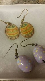 Easter egg earrings in Camp Pendleton, California