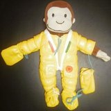 "curious george teach me zip button buckle tie velcro 11"" toy plush stuffed doll in Lockport, Illinois"