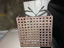 Vintage Wrought Iron Plant Stand with Lattice Style Top in Travis AFB, California