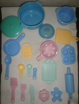 little tikes kitchen pretend play dishes pans utensils tray pots grater in Lockport, Illinois