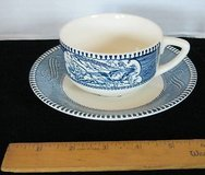 Set of 8 Currier and Ives Cups Saucers in Lockport, Illinois