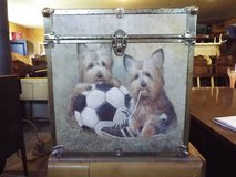 Record Box*Vintage*Playfull Dogs*Wood* in Rolla, Missouri