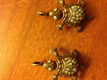 Vintage KIRKS FOLLY  Rinestone Turtle Earings signed in Roseville, California