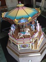 Enesco Carousel Royale Deluxe Action-Illuminated-Music Merry Go Round in Camp Pendleton, California