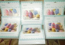 6 New Keepsake Craft Sets Wooden Easter Eggs Jewels, Beads, Glitter in Naperville, Illinois
