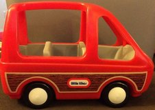 Little Tikes Tykes Red Mini Van Dollhouse Size Family Minivan 1980s in Lockport, Illinois