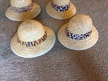 4 straw safari looking adult hats in Roseville, California