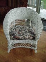 Vintage wicker rocking chair**American chair co**Merikord in Algonquin, Illinois