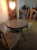 Coaster Round Glass Top  Table in Silver Nickle Smokey Glass in Roseville, California