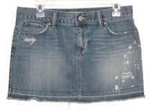 Old Navy Distressed Cut-Off Denim Jean Mini Skirt Womens 4 in Yorkville, Illinois