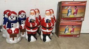 Variety of Christmas Blow Mold Decorations - NEW! in Naperville, Illinois