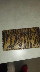 Hard shell leopard wallet in Fort Lewis, Washington