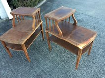Pair of 2 Tier Vintage End Tables in Travis AFB, California