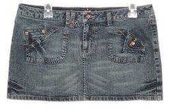 Womens 9 Juniors Arizona Flap Pocket Denim Jean Skirt in Yorkville, Illinois