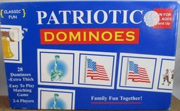Patriotic Dominoes Game Home School Educational flag statue of liberty Ages 3+ in Lockport, Illinois