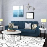 Baja Convert-a-Couch Sofa Sleeper Futon Bed (Blue) - NEW! in Chicago, Illinois