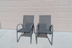 Pair of Stackable Patio Chairs in Travis AFB, California