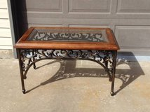 Wrought iron coffe table glass top in Aurora, Illinois