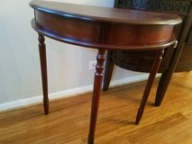 Half  Round Console Entry Table, cherry in Aurora, Illinois