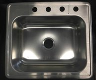 "Glacier Bay Drop-In Stainless Steel 25"" Single Bowl Kitchen Sink in Chicago, Illinois"