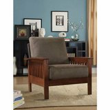Tribecca Mission Oak Arm Chair (Olive) - DISPLAY MODEL! in Joliet, Illinois