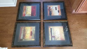 (Set of 4) Asian Blocks Series Wall Decor Framed Arts by Don Li-Leger in Camp Lejeune, North Carolina