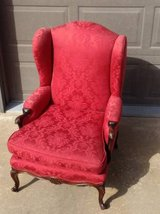 Beautiful red wing back chair good condition in Lockport, Illinois
