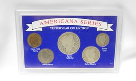 americana series, yester year collection , coin set in acrylic case, #2772 in Camp Lejeune, North Carolina