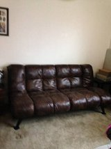 Plush soft leather style full futon in Roseville, California
