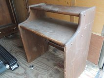 vintage solid wood writing desk dark wood secretary desk work local pickup 51024 in Fort Carson, Colorado